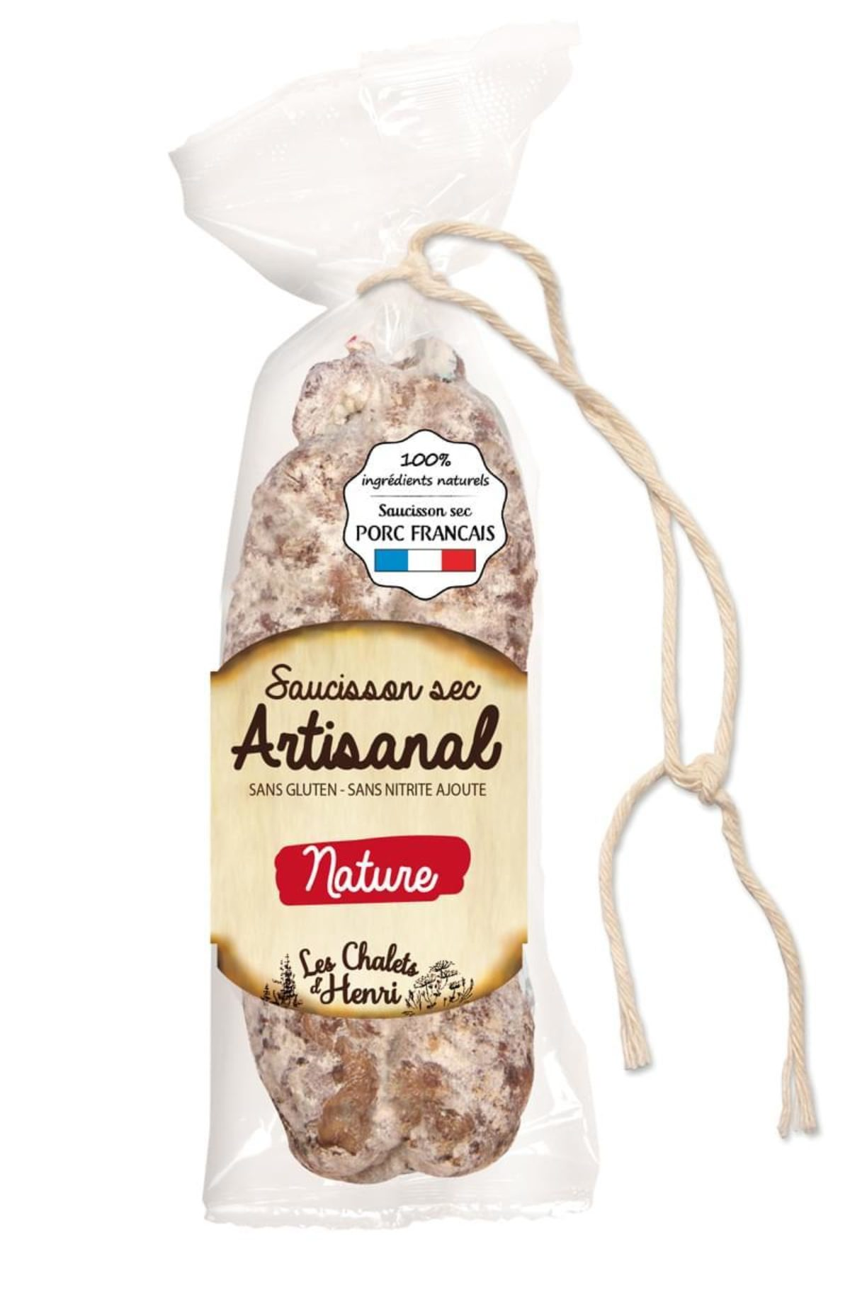 Octobre Saucisson sec artisanal Nature sticker min